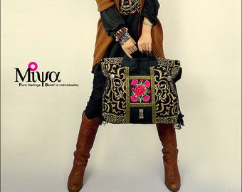 Miya's Original Ethnic Hmong Embroidered Bag  Purse Shoulderbag - Passer-by