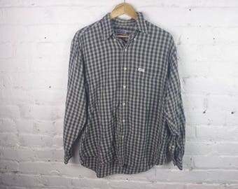 90s GUESS Long sleeve plaid flannel shirt button up