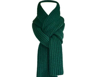 Special ,Cashmere scarf ,   Forest  Green  .