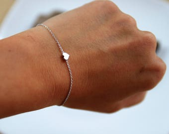 Bracelet | Friendship Band | Mini | Silver | Heart