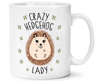 Crazy Hedgehog Lady 10oz Mug Cup