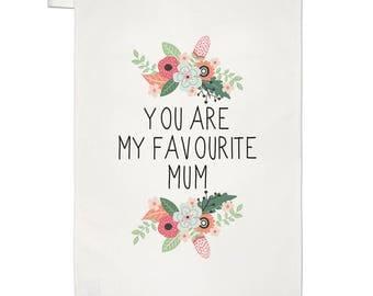 You Are My Favourite Mum Tea Towel Dish Cloth