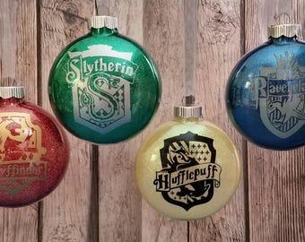 ONE Hogwarts House Christmas Ornament