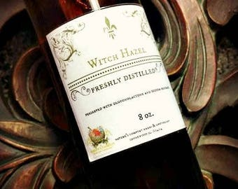 Pure Witch Hazel/ Hamamelis water ~ Distilled, Alcohol Free / astringents/ facial toners/ natural cleansers