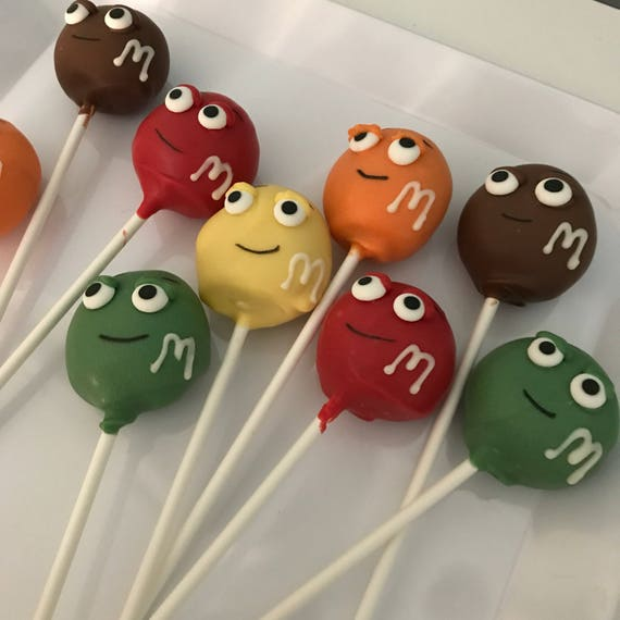 M and M Cake Pops