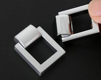 Chrome Square Drop Ring Handles