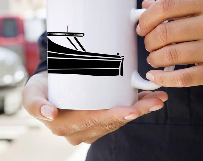 KillerBeeMoto: U.S. Made Coffee Mug Vintage Fishing