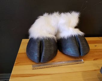 Fursuit hooves. Custom colors available.