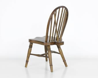 Miniature Wooden Chair Signed FAP. E