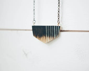 Stained Wooden Necklace