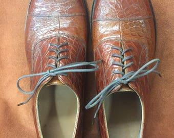 David Espinoza Alligator men's dress shoes size 10D