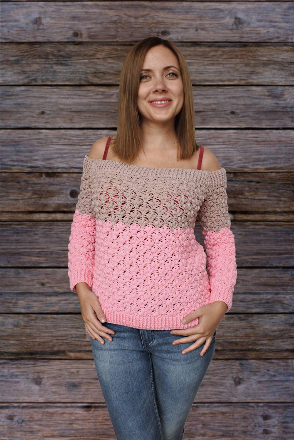 Crochet pattern pdf crochet sweater pattern crochet zoom bankloansurffo Choice Image