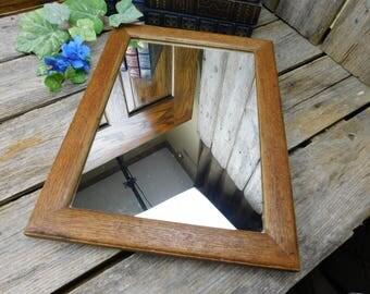 Vintage Oak Wall Mirror