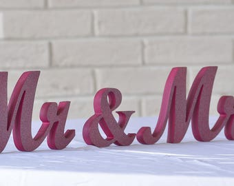 Mr And Mrs Sign, Mr And Mrs, Mr And Mrs Table Sign, Mr And Mrs Sign For Sweetheart Table