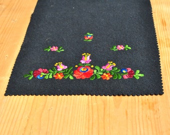 Vintage embroidery, table cover, folk table cover, embroidered  table cover, home decor, folk art, Hungarian embroidery