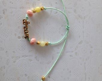 Bracelet boho style adjustable