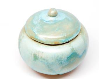 Handmade pottery sugar bowl with lid. Handmade ceramic sugar bowl Pottery sugar basin Gift for her Kind gift Art gift Coffee set Tea set
