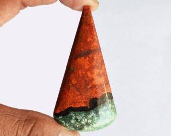 AAAA++++ Rare Sonora Jasper Cabochon, Size 66x33x5.5 MM, Jewellery Making, Pendant Stone, Sonoran Sunset, Chrysocolla, Red Cuprite, AG-9072