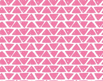 Pink Hand drawn Triangles - HTV or Permanent Glossy or Permanent Matte Vinyl