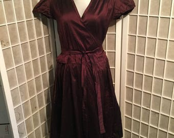 Vintage Calypso Silk Wrap Around Dress