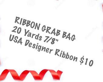 """20 yards 7/8"""" printed Ribbon Grab Bag"""