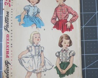 Vintage Simplicity 1287 Child's Blouse and Petticoat