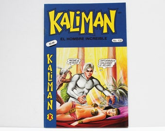 Kaliman El Hombre Increible No 132 El Faraon Sagrado y El Dragon Rojo Revista en Español Comic Book in Spanish RARE