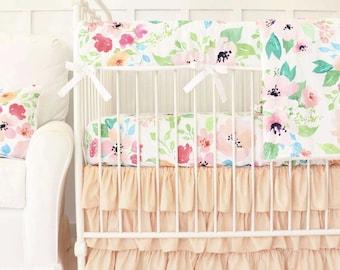 Peach Baby Bedding Etsy