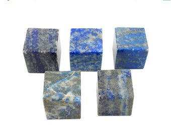 15% off Christmas in July Lapis Lazuli Cube - Reiki - Metaphysical - Crafting - Crystal Grids  (RK93B8)
