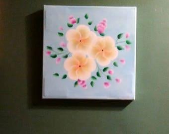 Plumeria on Canvas