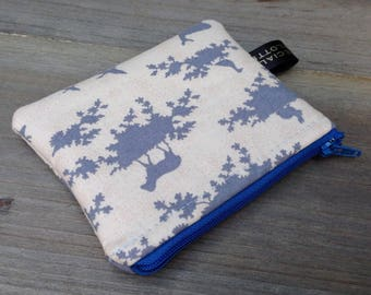 Woodland animal small coin money zip purse pouch