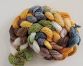 Shetland Linen Fake Cashmere,Sunny Afternoon, top, handpainted fiber for spinning, 115g