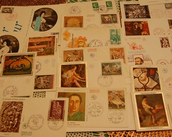 FRANCE-First Day Covers-Semi Post/Post Cards/Regular issues Lot of 50 +-