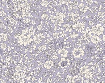 Fabric -Liberty  - The English Garden - Emily silhouette, lilac - Quilters weight cotton
