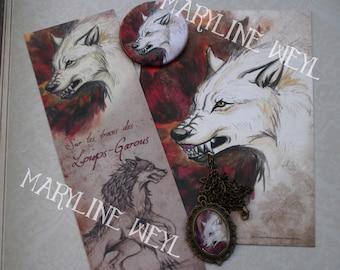 "Nice magic set ""Werewolf, white and Red"""