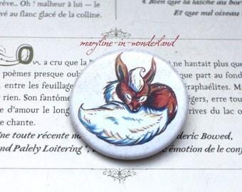 badge brooch cute wrapped magical Fox