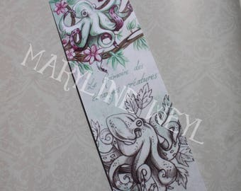 "Bookmark ""book of strange creatures"" arboreal Octopus"