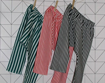 Striped cotton harem pants, sarouel for babies and toddlers