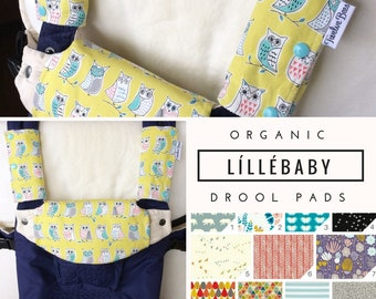 Custom ORGANIC LÍLLÉBABY Drool Pads | LÍLLÉBABY Drool Bib | Choose your Fabric!