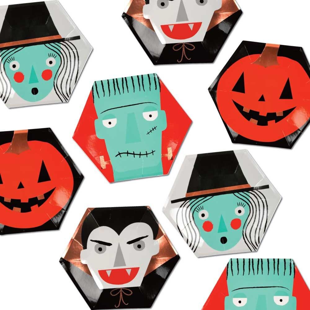 Vintage halloween paper decorations - Halloween Paper Plates Halloween Party Plates Kids Halloween Modern Halloween Decorations Meri