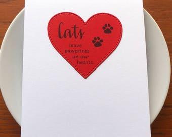 cat loss card // pet loss card // sympathy card // cat sympathy card // pet sympathy // condolence card
