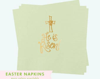 He Is Risen! - Easter Napkins (Qty 25)