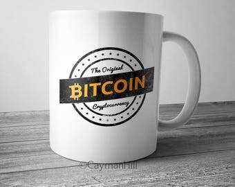 Bitcoin Mug The Original Cryptocurrency Coffee Mug BTC Crypto Mug