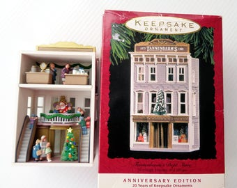 Vintage Keepsake Ornament Tannerbaum's Department Store Nostalgic Houses and Shops Series, Anniversary Edition Collector's Series Dated 1993