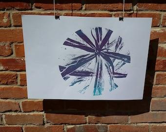 Star screen print, art print, wall decor, A2 print
