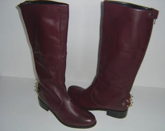 Burgundy Knee Boots