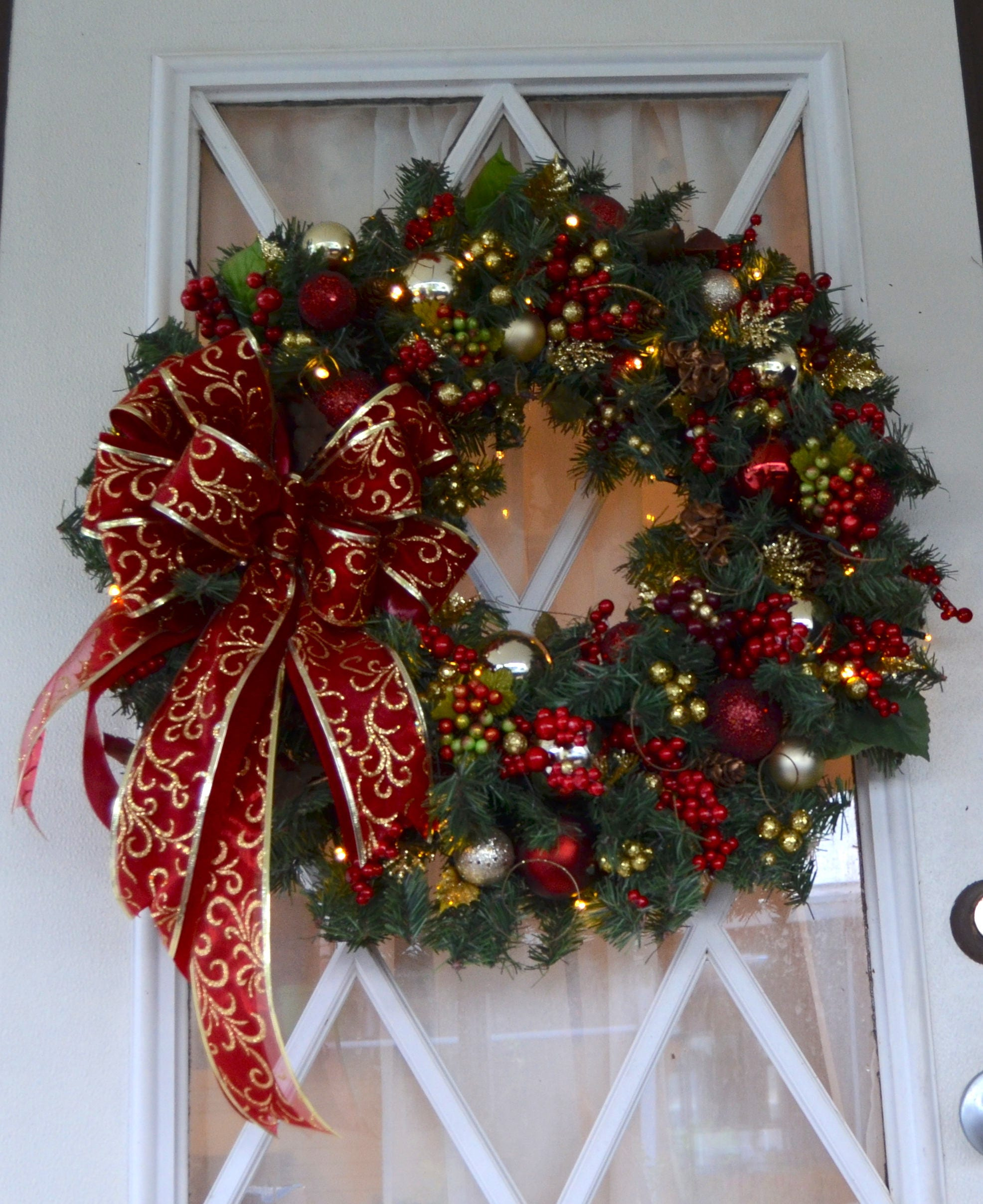 christmas wreath lighted holiday wreath 23christmas wreath pre lit