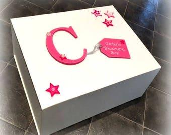 Keepsake Memory Box   Christening Box   Baby Shower Gift Box   New Baby Memory Box   Luxury White Keepsake Box