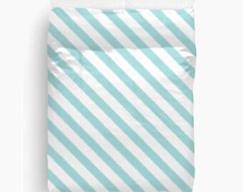 Aqua Duvet Cover, Striped Bedding, Ikat, Girls Room Decor, Tween Girls, Teen Room Decor, Dorm Decor, New Apartment Decor, Guest Bedroom