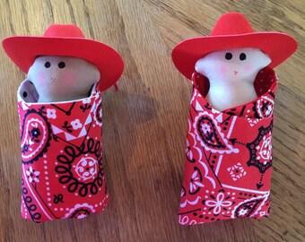 cowboy baby bunting doll